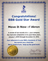 Akron Local Movers BBB Gold